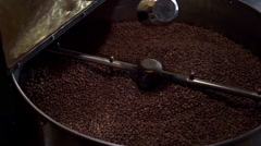 Coffee Roaster working Stock Footage