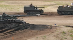 Tank Event 2016 SOEST, the Netherlands, AUGUST 27-28: M110 Tank from WO II demo  Stock Footage
