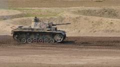Tank Event 2016 SOEST, the Netherlands, AUGUST 27-28: PANZERKAMPFWAGEN III WO II Stock Footage