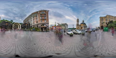 360Vr Video. Postal Square in Kiev. Funicular. Stock Footage