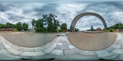 360Vr Video. Arch of Friendship of Peoples. Kiev Stock Footage