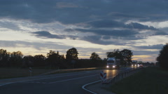 Truck Driving on Highway. Stock Footage