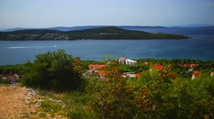 Village on Adriatic Sea Stock Footage