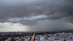Rain cloud in Bangkok ,Capital city of Thailand time-lapse in urban scene at Stock Footage