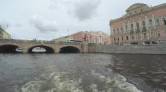 View on Anichkov Bridge Stock Footage