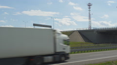 Truck Driving on Highway Stock Footage