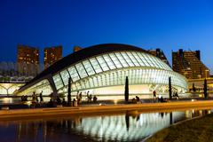 VALENCIA, SPAIN - JULY 21, 2016: Hemispheric of Arts of City of Arts and Scie Stock Photos