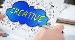 Creativity concept on a paper Stock Photos