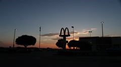 McDonalds early morning Stock Footage