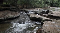 Creek flowing at Stone Creek Park in Flower Mound Texas Stock Footage