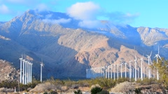 Wind Energy in the desert of California Stock Footage