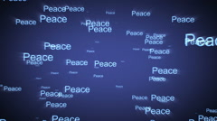 Peace. Letters and symbols form the world map Stock Footage