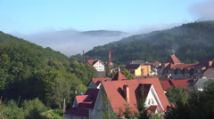 The Red Roofs of the Hill Settlement Stock Footage