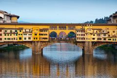 Ponte Vecchio over the Arno River in Florence, Italy Stock Photos