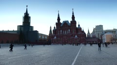 The State Historical Museum of Russia in Moscow Stock Footage