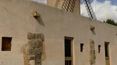Ancient mills of El Jonquet, Palma, Mallorca Stock Footage