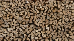 Logs of firewood Stock Footage