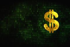 Money concept: Dollar on digital background Stock Illustration