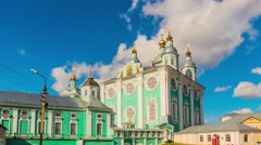 Cathedral Church of Assumption, Smolensk, Russia Stock Footage