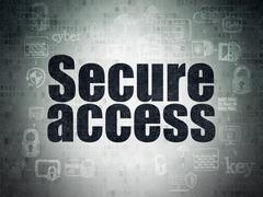Security concept: Secure Access on Digital Data Paper background Stock Illustration