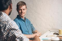 Strategizing new business ideas Stock Photos