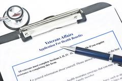 VA Health Benefits Application Stock Photos