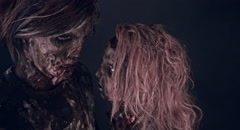 Romantic zombies. Stock Footage