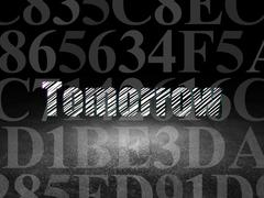 Time concept: Tomorrow in grunge dark room Stock Illustration