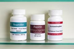 Aspirin Ibuprofen Acetaminophen Stock Photos