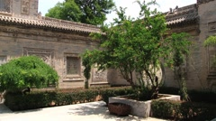Exterior of an old traditional building in Xian, China. Stock Footage