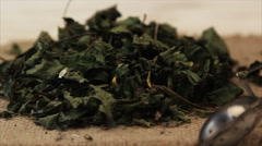 Herbal dried tea with honey Stock Footage