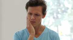 Toothache, Man in Pain Stock Footage