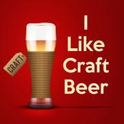 Vector Illustration I like Craft beer Piirros