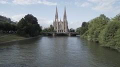 St. Paul's Church (Strasbourg) Stock Footage