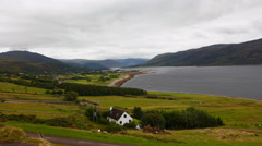 4K UltraHD Timelapse view of Ullapool in Scotland Stock Footage