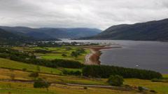 4K UltraHD Timelapse overlooking Ullapool in Scotland Stock Footage