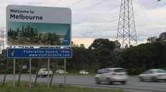 Melbourne sign (Time lapse) Stock Footage
