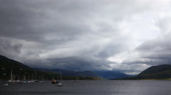 4K UltraHD Timelapse of harbor in Ullapool, Scotland Stock Footage