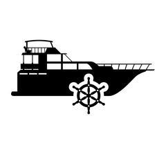Ship anchor transportation design Stock Illustration