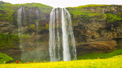 Time lapse of Seljalandsfoss in south Iceland Stock Footage