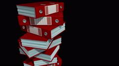 Folders binders tack (matte) Stock Footage