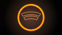 Orange WiFi Icon with digital code Stock Footage
