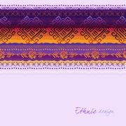 Tribal ornamental design Stock Illustration
