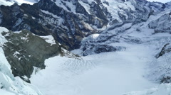 View of the glacier at Jungfrau Switzerland Stock Footage