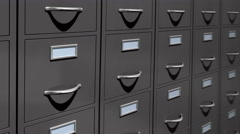Cabinets folders file animation. Stock Footage