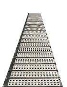 Network RJ-45 patch panel with switches in switching center. Perspective view Stock Photos