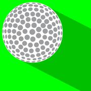 Golf Ball On Green Stock Illustration