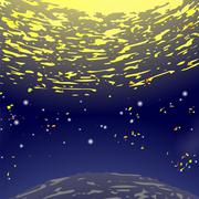 Space Background. Universe Filled with Stars Stock Illustration