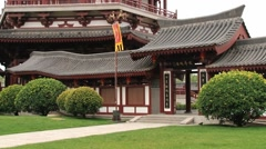 Traditional style building in the Datang Furong Garden in Xian, China. Stock Footage