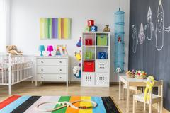 Playing area of a baby room Stock Photos